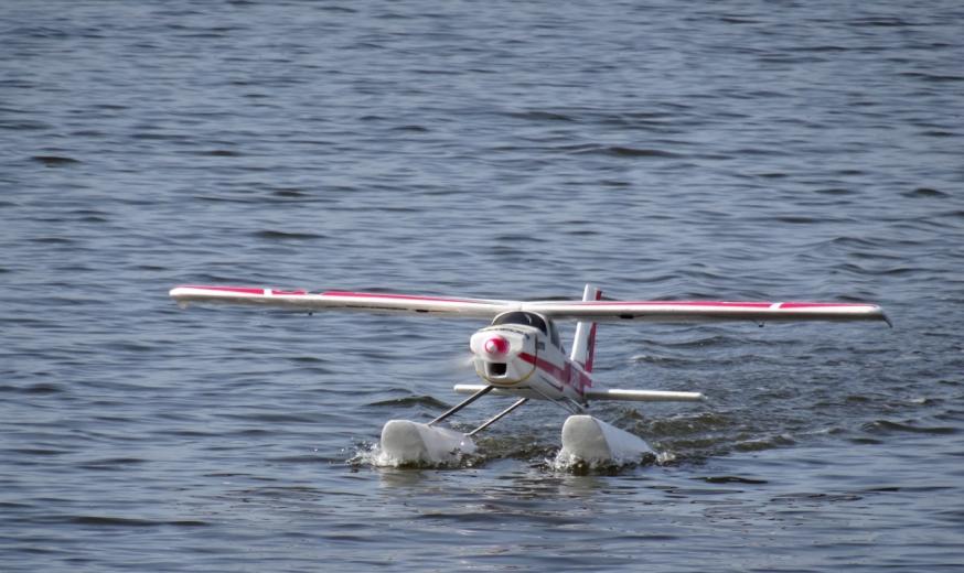 Flying planes on Lago di Patria