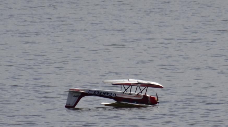 Upside down on Lago di Patria