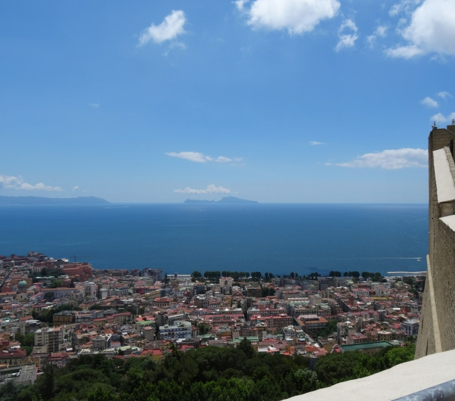 View to Capri from Castel Sant'Elmo