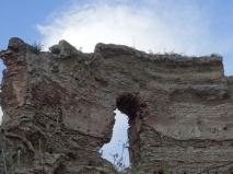 A Roman ruin on the edge of Lago d'Averno
