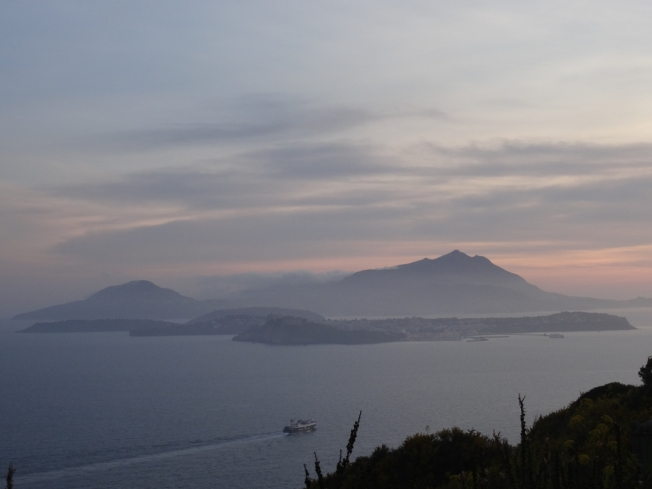 View from Capo Miseno to the islands of Ischia and Procida