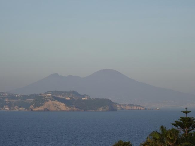 Vesuvius on the horizon - all innocence