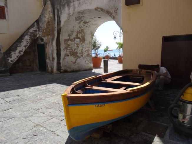 An old arch in Cetara on the Amalfi Coast