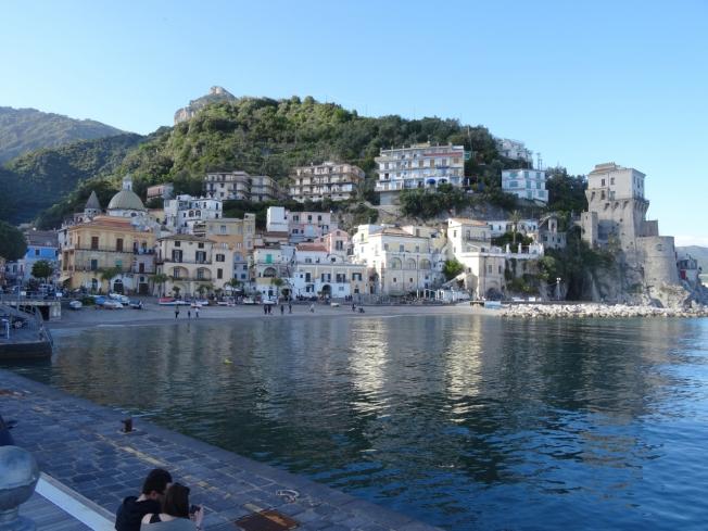 Cetara on the Amalfi Coast as the sun sets
