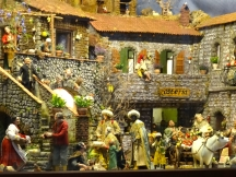 A small section of the presepe inside the church at Cetara