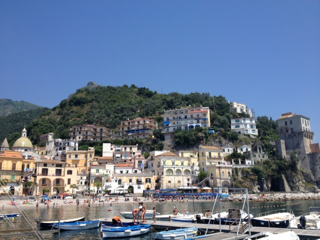 The fishing village of Cetara on the Amalfi Coast in Italy