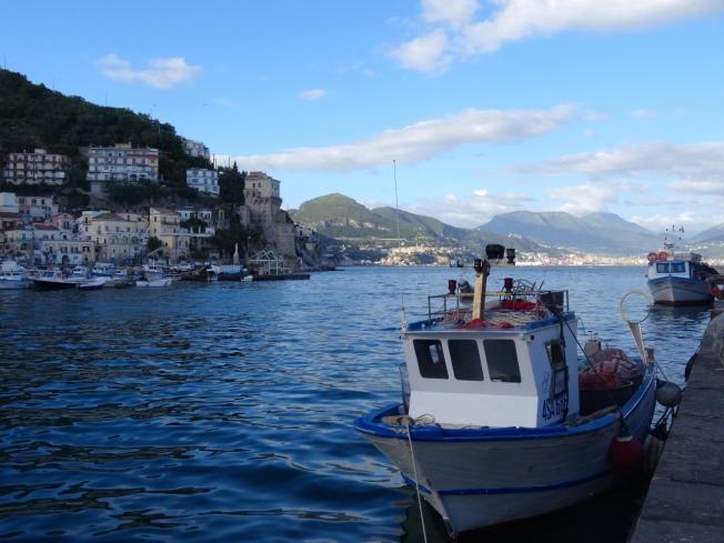Evening in Cetara on the Amalfi Coast in Italy