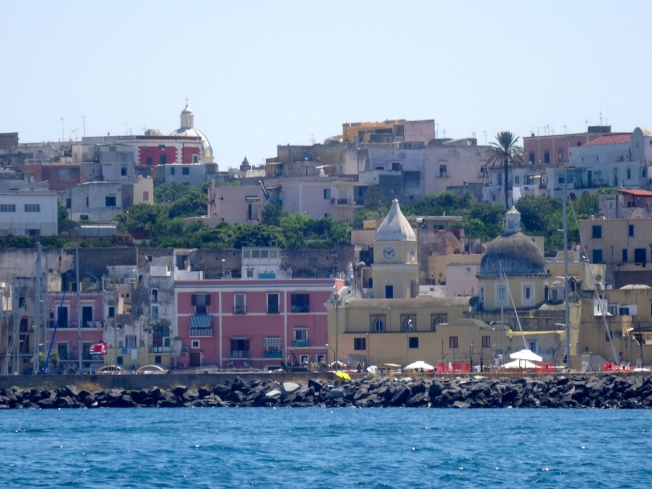 The pastel colours of Procida
