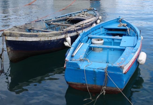 Boats in harbour on the Tyrrhenian Sea