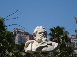 Giosuè Carducci (1835 - 1907) - bust in the Villa Comunale in Naples
