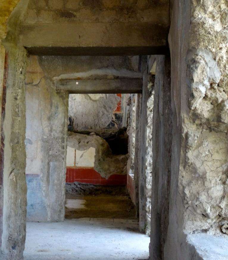 The old doorways of the Villa Arianna in Stabiae