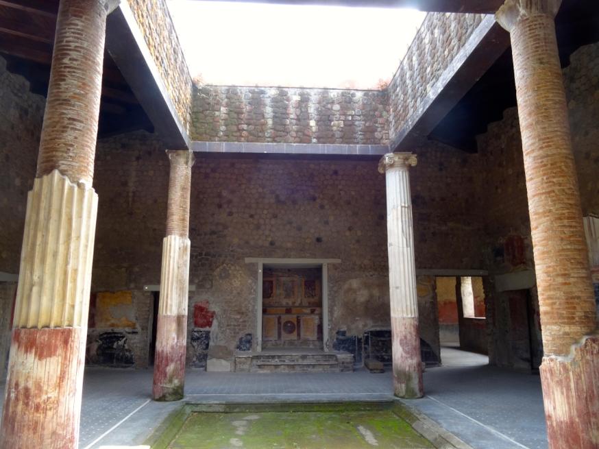 The atrium of the Villa San Marco in Stabiae