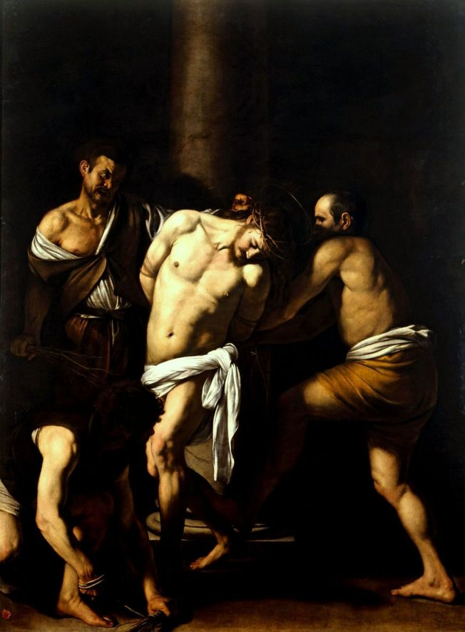 Caravaggio: La Flagellazione di Cristo which now hangs in the Museo di Capodimonte in Naples, Italy