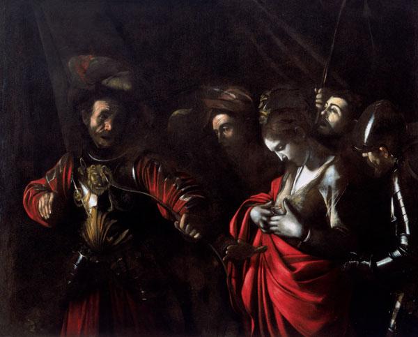 'Martyrdom of St Ursula' by Caravaggio 1610 in the Palazzo Zevallos Stigliano in Via Toledo, Naples, Italy
