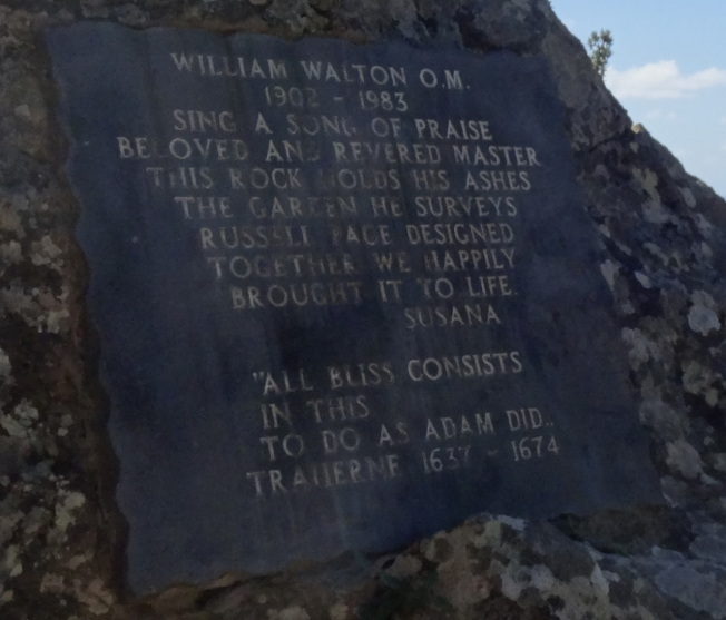 Memorial to William Walton at La Mortella on Ischia