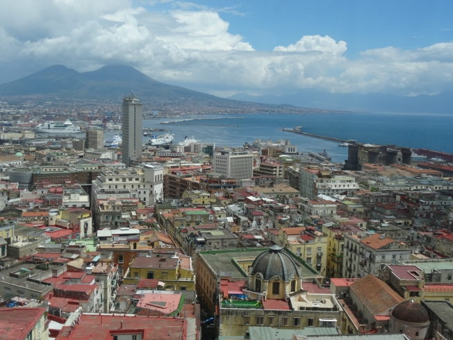 One of many views across Naples towards Vesuvius