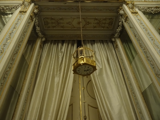 Birdcage clock in the Royal Palace at Caserta - a gift from the Queen of France, Marie Antoinette, to her sister, Mary Caroline - Queen of Naples