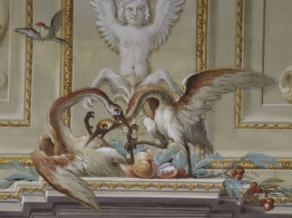 Detail from a ceiling in the Royal Palace of Caserta