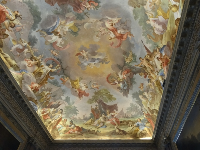 A ceiling in the Royal Palace at Caserta
