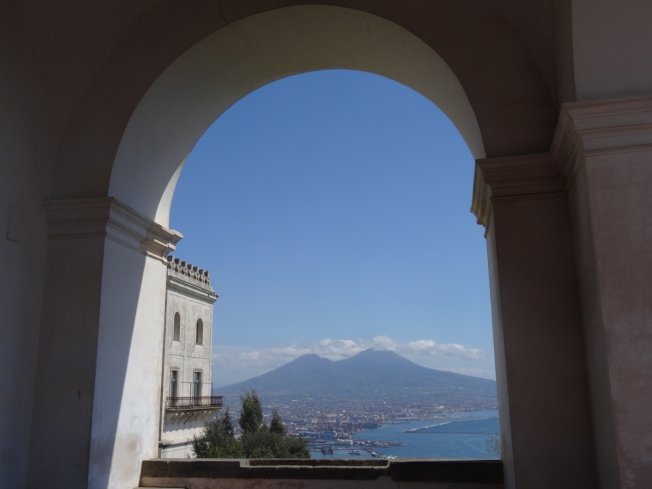 View from the Certosa di San Martino in Naples, Italy