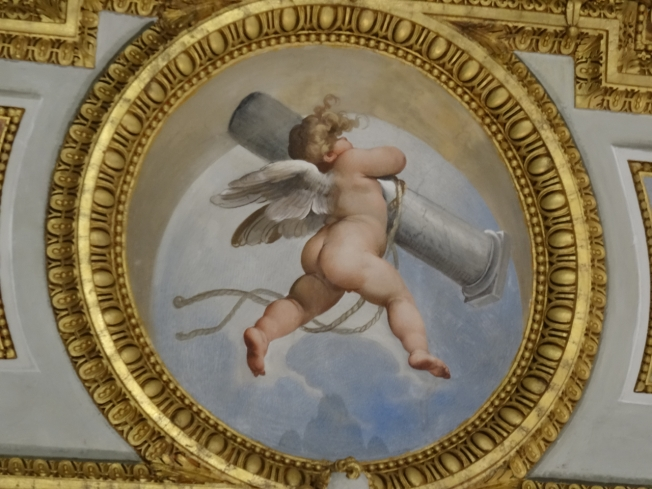 Detail from the decoration inside the Certosa di San Martino in Naples, Italy