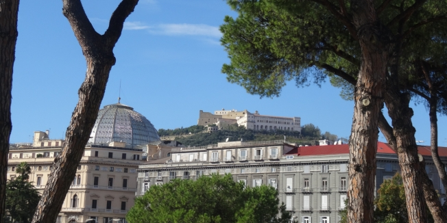 The Certosa di San Martino and Castel Sant'Elmo dominate the Naples skyline