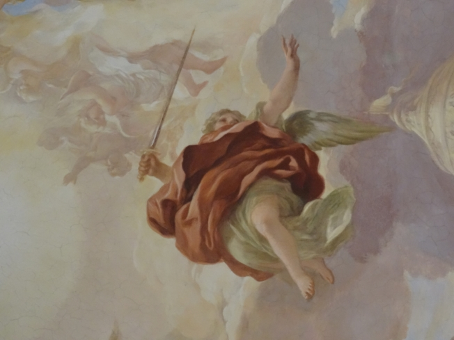 Detail from a ceiling in the Certosa di San Martino in Naples, Italy