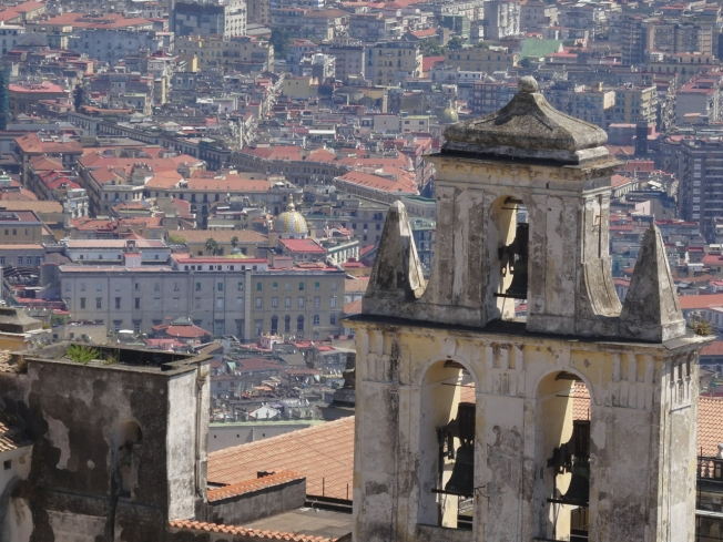 Bells of the Certosa di San Martino over Naples, Italy