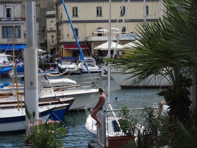 The marina in front of the Borgo Marinaro in Naples, Italy