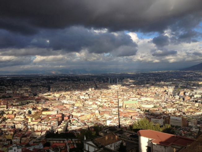 One side of the vast city of Naples