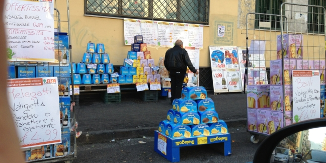 Panettone for sale in Naples, Italy