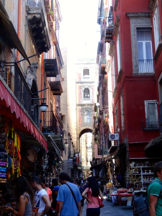 Via San Gregorio Armeno in Naples, Italy