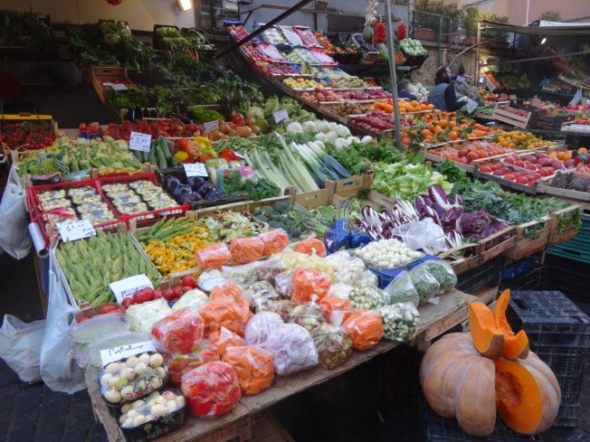 Markets with special Christmas stock in Naples, Italy