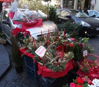 Decoration for sale in Naples, Italy