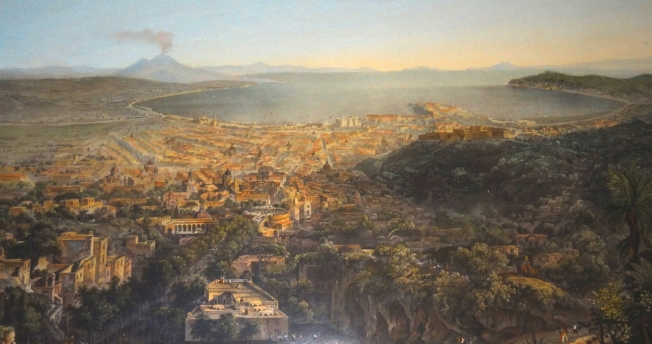 Print of Naples, Italy in 1749
