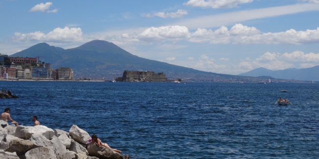 Naples, Italy from across the water