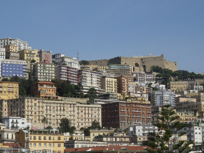 Castel Sant'Elmo (top right) has amazing views across Naples