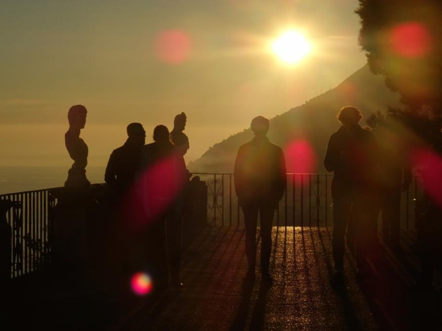 The Infinity Terrace at sunset - Villa Cimbrone, Ravello, Italy