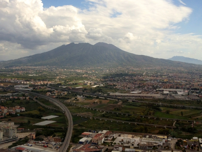 Vesuvius from the air