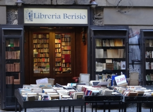 The bookshops and stalls of Port'Alba in Naples, Italy