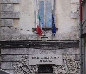 Music conservatory in Naples, Italy