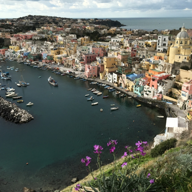 The island of Procida in the Bay of Naples, Italy