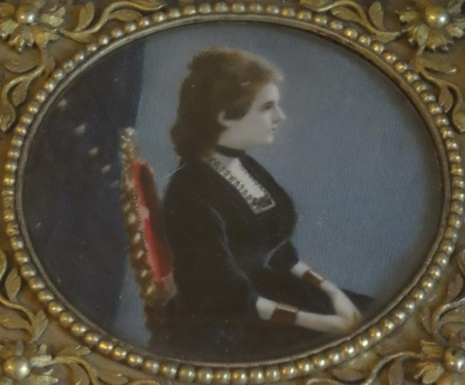 Portrait of Rosina Pignatelli, displayed in Villa Pignatelli in Naples, Italy