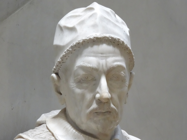 Bust of Pope Innocent XII (1691 -1700), displayed in the Villa Pignatelli in Naples, Italy