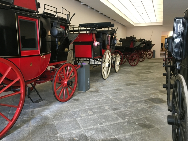 Carriage Museum in the grounds of the Villa Pignatelli in Naples, Italy