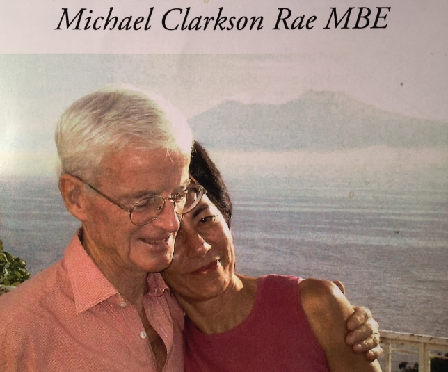 Michael Rae and his wife Bambi, with Vesuvius in the background