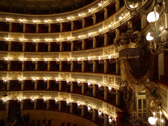 The Teatro San Carlo in Naples, Italy