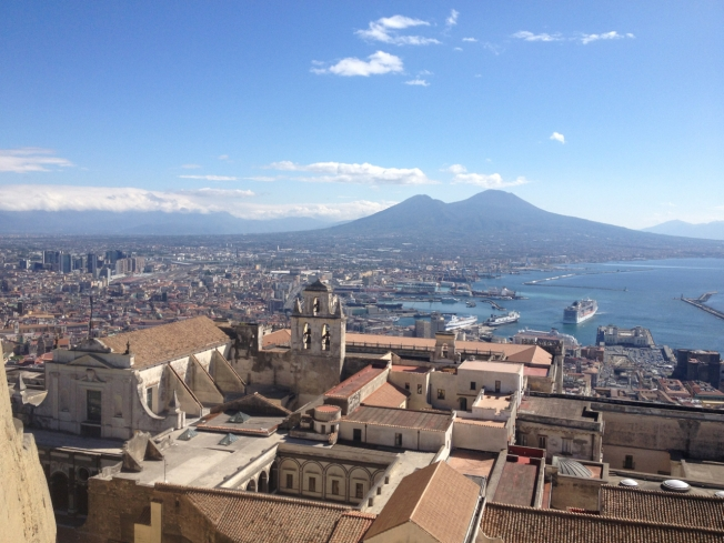 Naples, Italy on a blue day