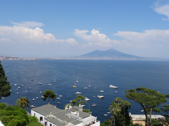 View from the Rae's balcony in Posillipo, in Naples, Italy
