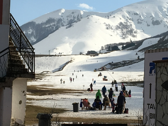 The end of the snow and the Easter weekend in Roccaraso, Abruzzo
